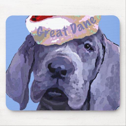 Great Dane Puppy Christmas Mousepad