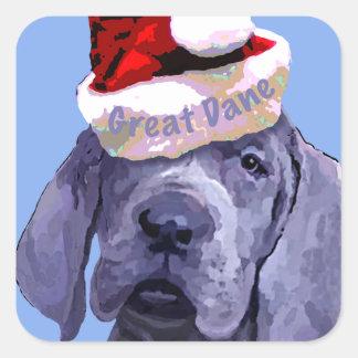 Great Dane Puppy Christmas Sticker