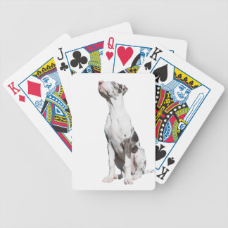 Great Dane puppy dog harlequin cute photo Bicycle Poker Deck
