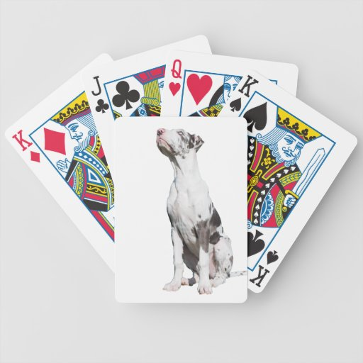 Great Dane puppy dog harlequin cute photo Playing Cards