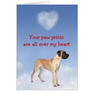Great Dane Puppy Love Card