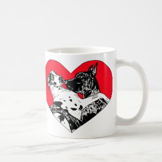 Great Dane Puppy Love Coffee Mugs