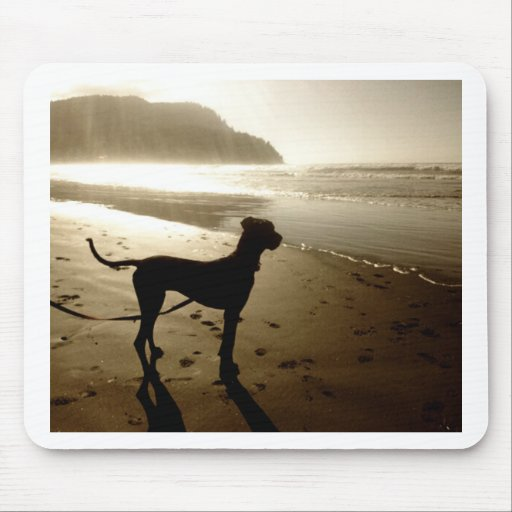 Great Dane Puppy Sunset Mousepad