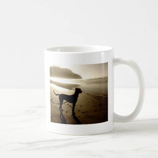 Great Dane Puppy Sunset Coffee Mug