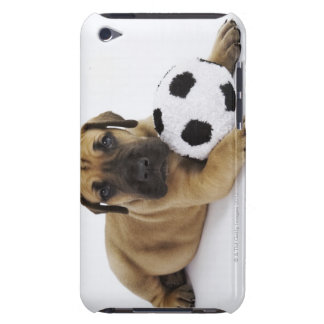 Great Dane puppy with toy soccer ball Barely There iPod Case
