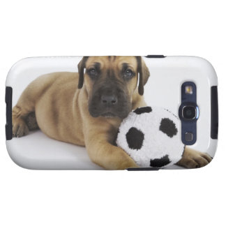 Great Dane puppy with toy soccer ball Galaxy S3 Cover