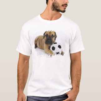 Great Dane puppy with toy soccer ball T-Shirt