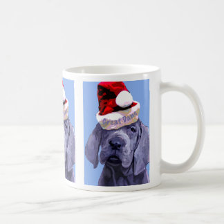 Great Dane Puppy X 3 Christmas Mug