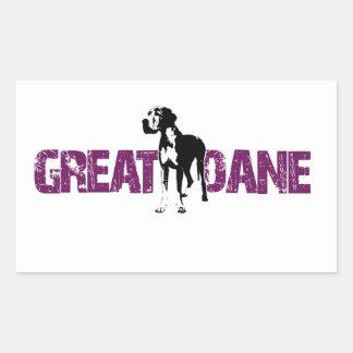 Great Dane Rectangular Sticker