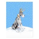 Great Dane Reindeer Christmas Merle