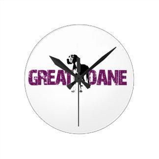 Great Dane Round Clock