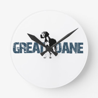 Great Dane Round Clock
