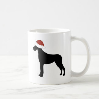 Great Dane Santa Hat Coffee Mug