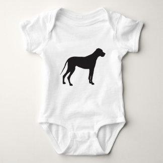 Great Dane Silhouette Baby Bodysuit