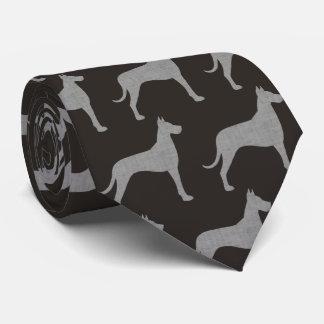 Great Dane Silhouettes Pattern Tie