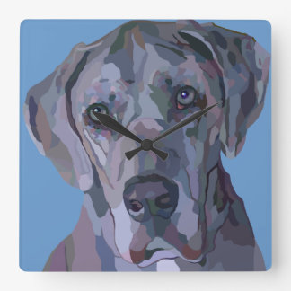 Great Dane Silver Merle Clock
