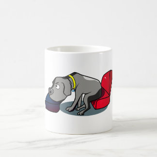 Great Dane Sitting on Sofa Coffee Mug