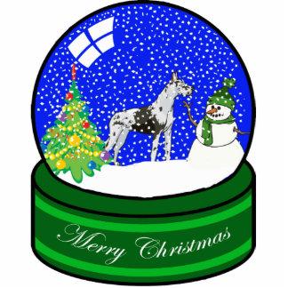 great dane snow globe photo cutout