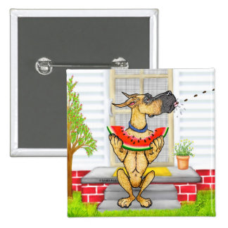 Great Dane SPIT Fawn 15 Cm Square Badge