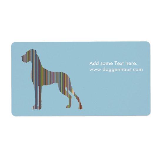 Great Dane stripes Shipping Label