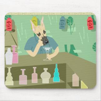 Great Dane Tiki Bar Mouse Pad