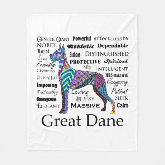 Great Dane Traits Fleece Blanket