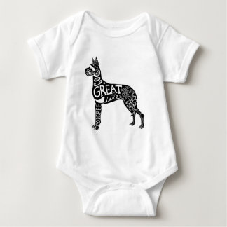 Great Danes are GREAT! Baby Bodysuit