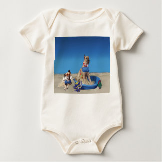 Great Danes at the Beach Baby Bodysuit