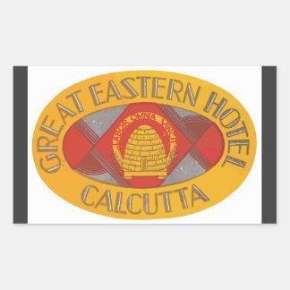 Great Eastern Hotel Calcutta, Vintage Rectangular Sticker