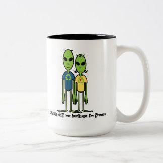 Great eco-friendly gift idea for him. Two-Tone mug