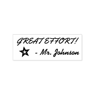 """GREAT EFFORT!"" Educator Rubber Stamp"