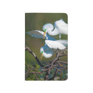 Great Egret Blank Note Book