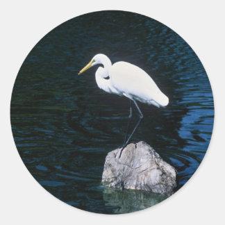 Great Egret Classic Round Sticker