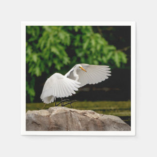 Great Egret Disposable Napkin
