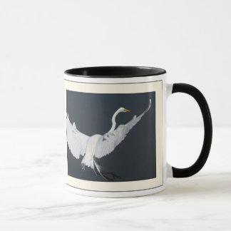 Great Egret Landing Mug