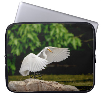 Great Egret Laptop Sleeve