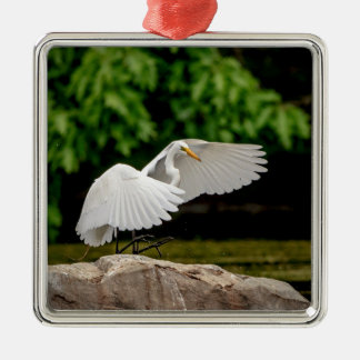 Great Egret Metal Ornament