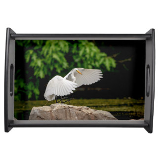 Great Egret Serving Tray