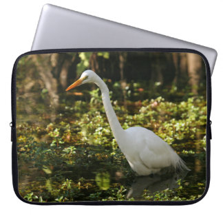 Great Egret Wading in Everglades Laptop Sleeve