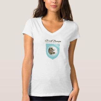 Great Escape Mustang Sanctuary Wms V-neck Tshirt