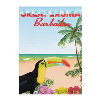 Great Euxma Barbados travel poster Acrylic Print