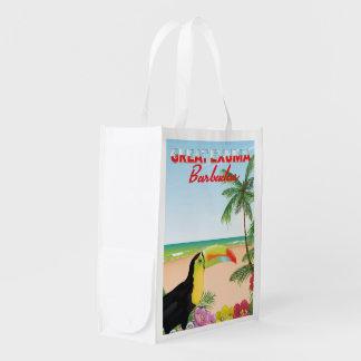 Great Euxma Barbados travel poster Reusable Grocery Bag