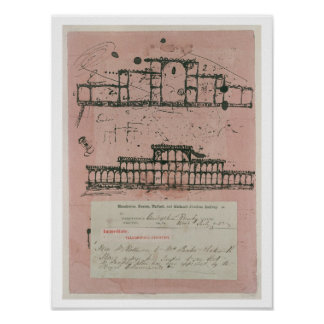 Great Exhibition, 1851: first sketch for the build Poster