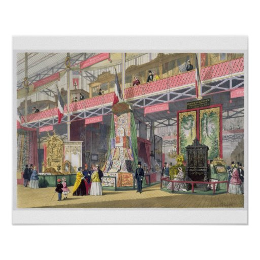 Great Exhibition, 1851: France No.1, display of fa Posters