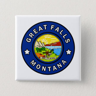 Great Falls Montana 15 Cm Square Badge