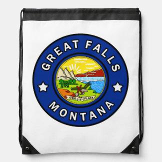Great Falls Montana Drawstring Bag