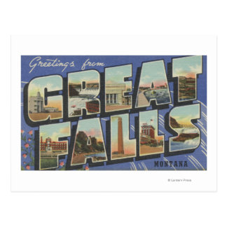 Great Falls, Montana - Large Letter Scenes 2 Postcard