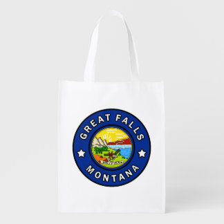 Great Falls Montana Reusable Grocery Bag