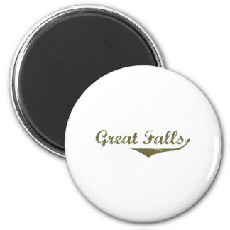 Great Falls Revolution t shirts 6 Cm Round Magnet