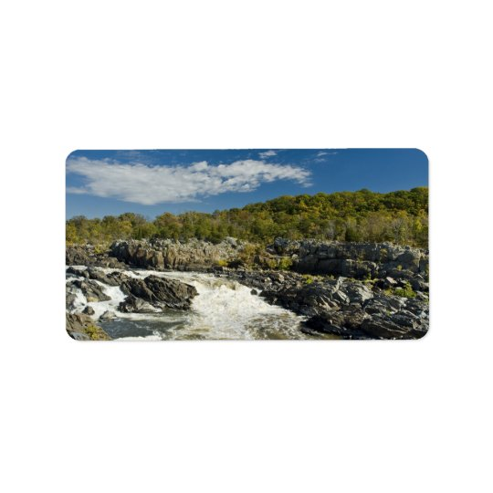 Great Falls Virginia Address Label